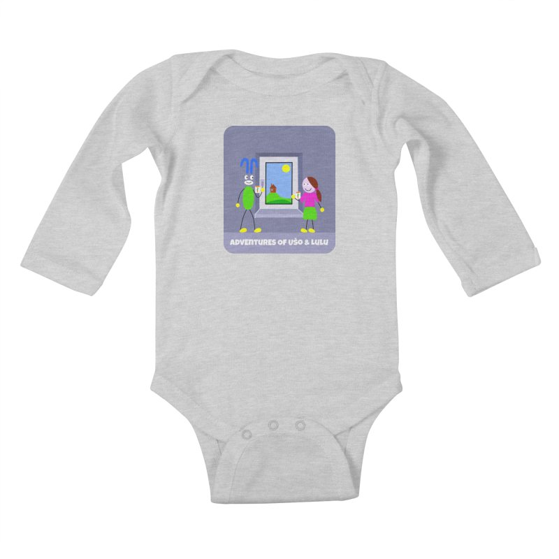 Bright Future Kids Baby Longsleeve Bodysuit by usomic's Artist Shop