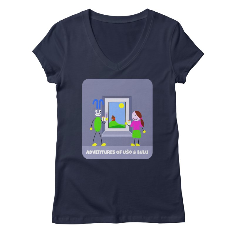 Bright Future Women's Regular V-Neck by usomic's Artist Shop
