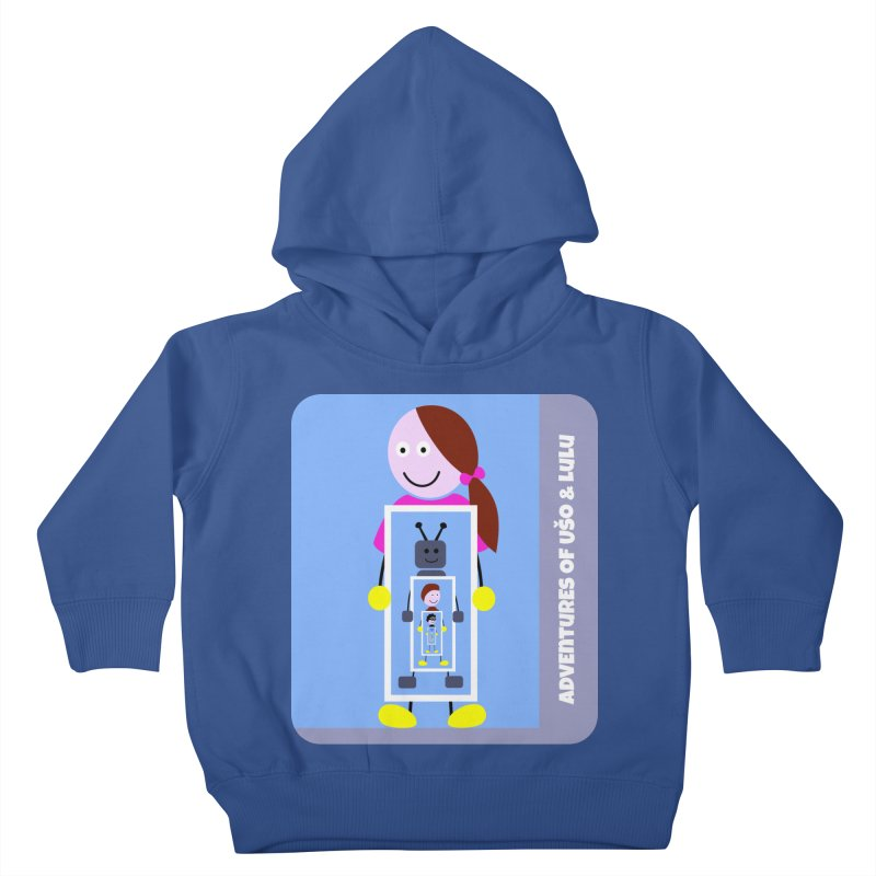 Recursion in Kids Toddler Pullover Hoody Heather Royal by usomic's Artist Shop