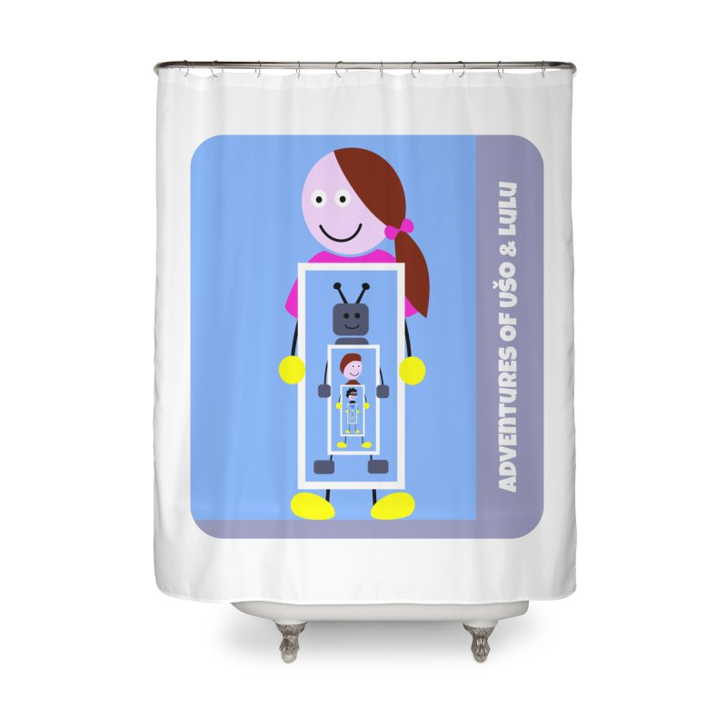 Recursion Home Shower Curtain by usomic's Artist Shop