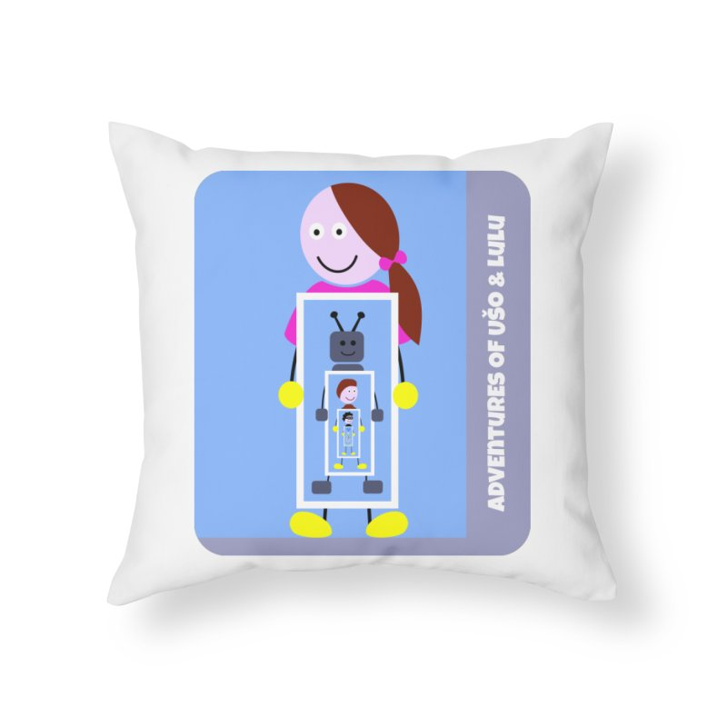 Recursion Home Throw Pillow by usomic's Artist Shop