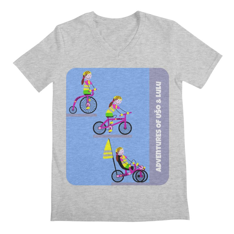 Velocipedolution - Zero polution Men's Regular V-Neck by usomic's Artist Shop