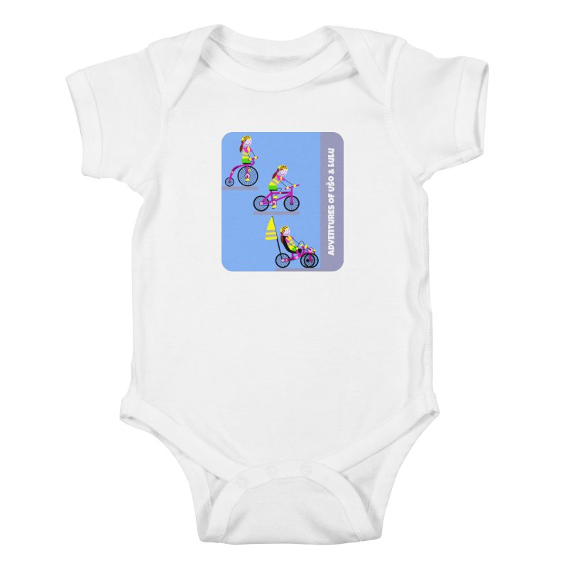 Velocipedolution - Zero polution Kids Baby Bodysuit by usomic's Artist Shop
