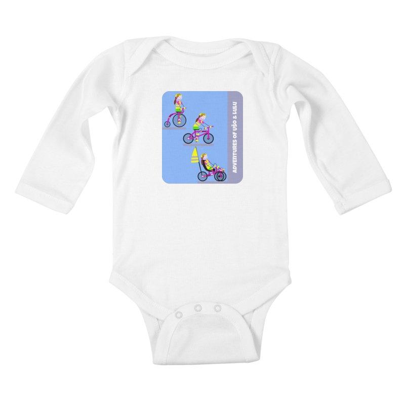 Velocipedolution - Zero polution Kids Baby Longsleeve Bodysuit by usomic's Artist Shop