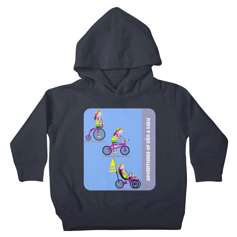 Velocipedolution - Zero polution Kids Toddler Pullover Hoody by usomic's Artist Shop