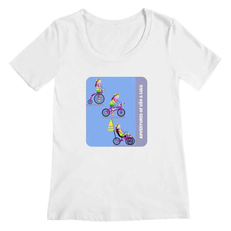 Velocipedolution - Zero polution Women's Scoopneck by usomic's Artist Shop