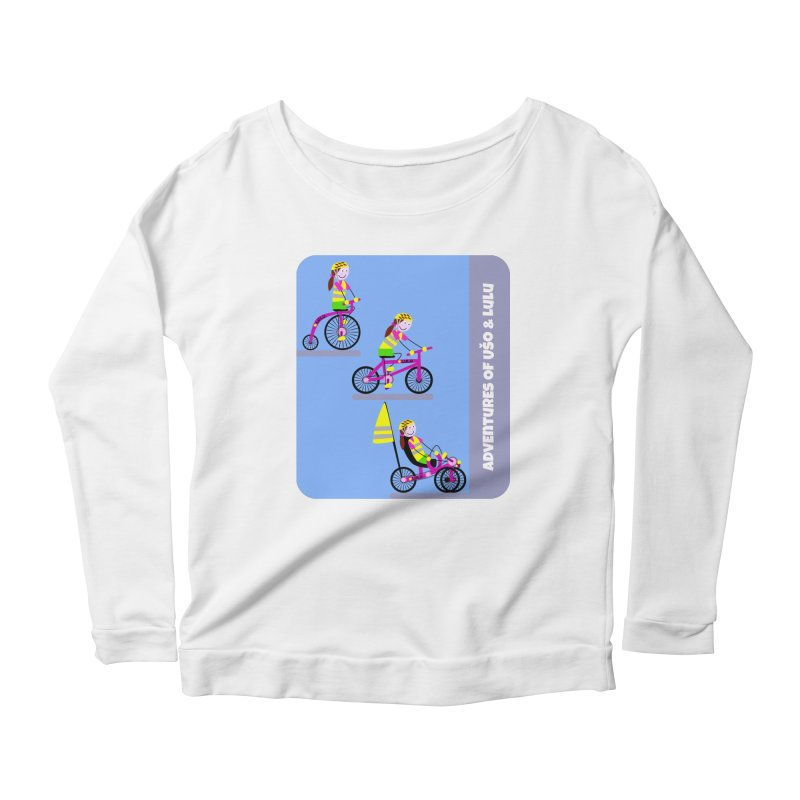 Velocipedolution - Zero polution Women's Scoop Neck Longsleeve T-Shirt by usomic's Artist Shop