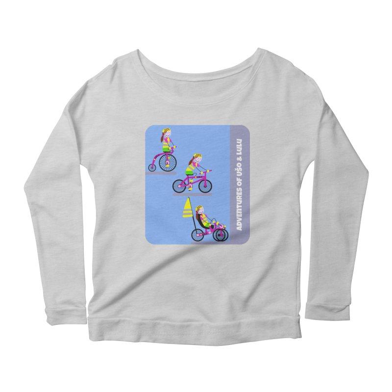 Velocipedolution - Zero polution Women's Scoop Neck Longsleeve T-Shirt by usomic's Artist Shop