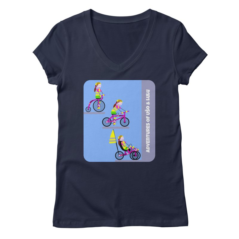 Velocipedolution - Zero polution Women's Regular V-Neck by usomic's Artist Shop