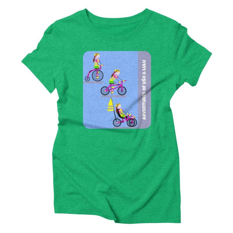 Velocipedolution - Zero polution Women's Triblend T-Shirt by usomic's Artist Shop