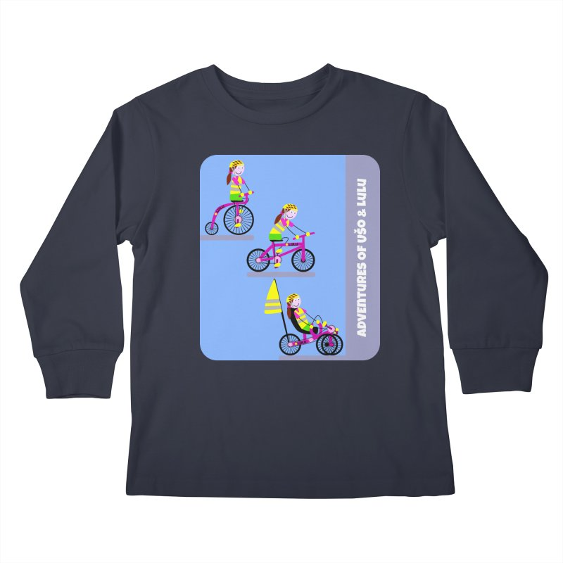 Velocipedolution - Zero polution Kids Longsleeve T-Shirt by usomic's Artist Shop