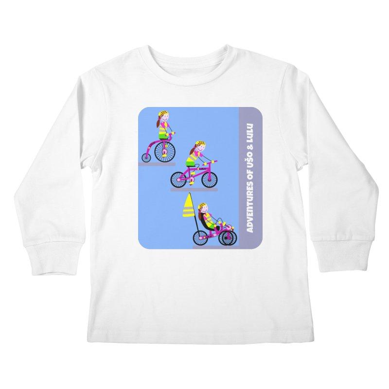 Velocipedolution - Zero polution Kids Longsleeve T-Shirt by usomic's Artist Shop