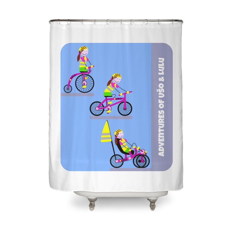 Velocipedolution - Zero polution Home Shower Curtain by usomic's Artist Shop