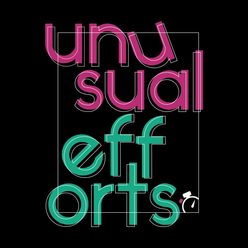 Unusually logo'd Men's T-Shirt by Unusual Efforts Merchandise and Prints