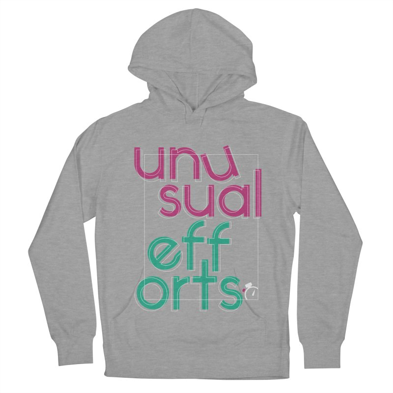 Unusually logo'd Women's French Terry Pullover Hoody by Unusual Efforts Merchandise and Prints