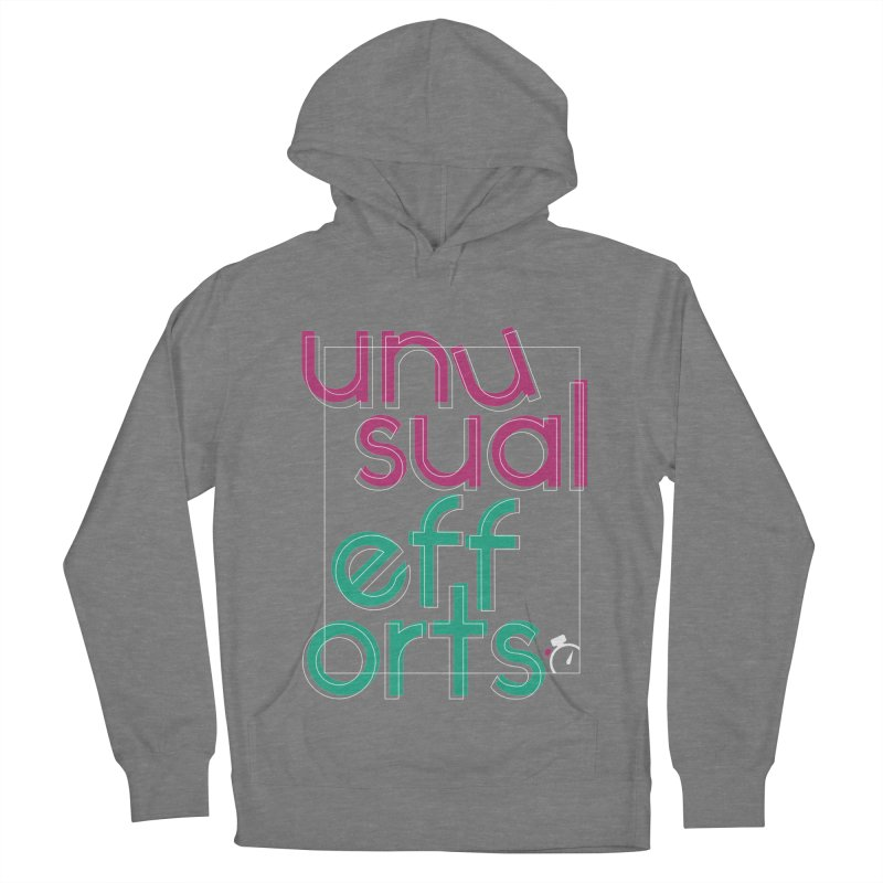 Unusually logo'd Men's French Terry Pullover Hoody by Unusual Efforts Merchandise and Prints