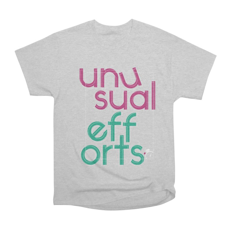 Unusually logo'd Women's Heavyweight Unisex T-Shirt by Unusual Efforts Merchandise and Prints