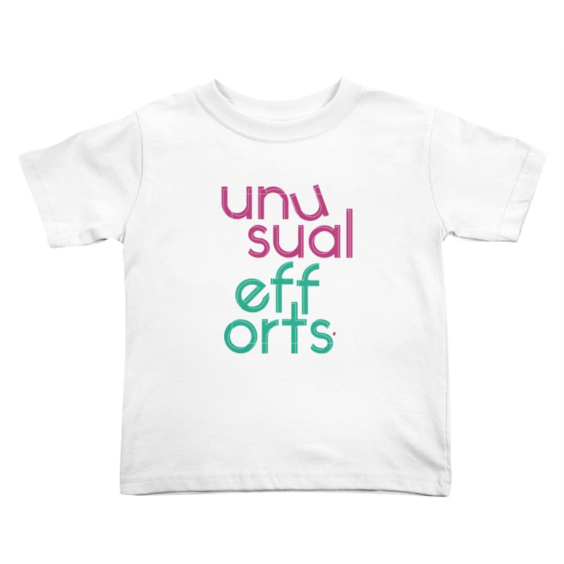 Unusually logo'd Kids Toddler T-Shirt by Unusual Efforts Merchandise and Prints