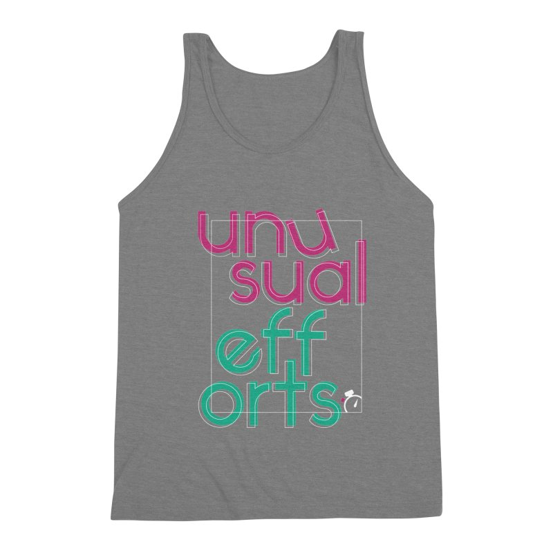 Unusually logo'd Men's Triblend Tank by Unusual Efforts Merchandise and Prints