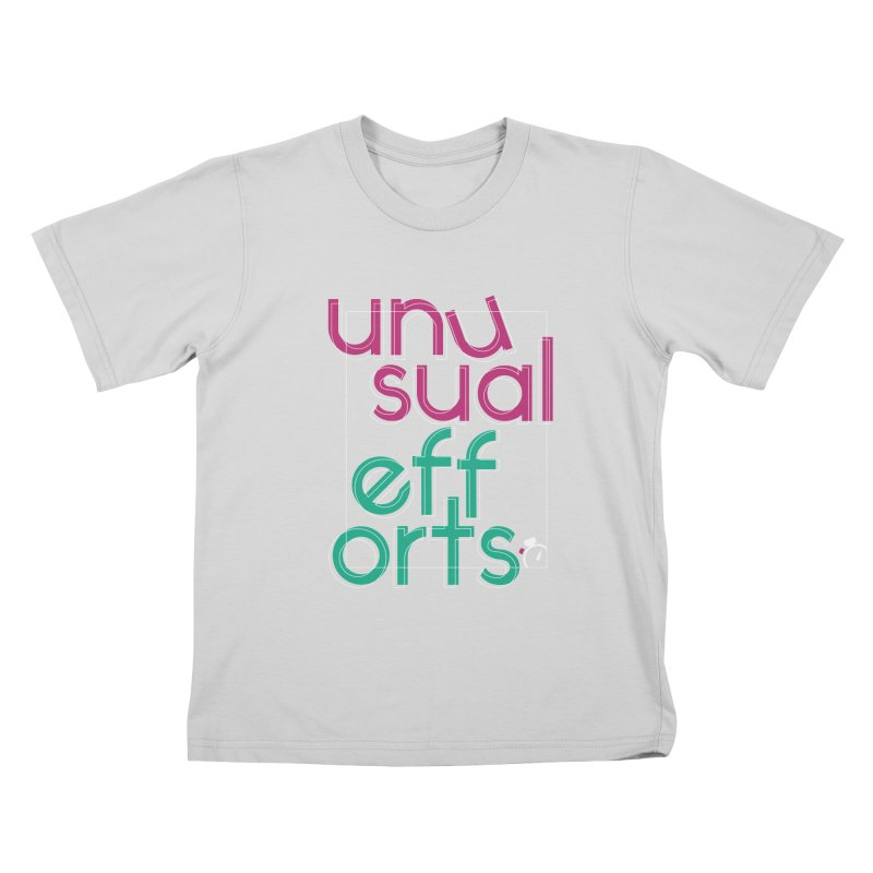 Unusually logo'd Kids T-Shirt by Unusual Efforts Merchandise and Prints