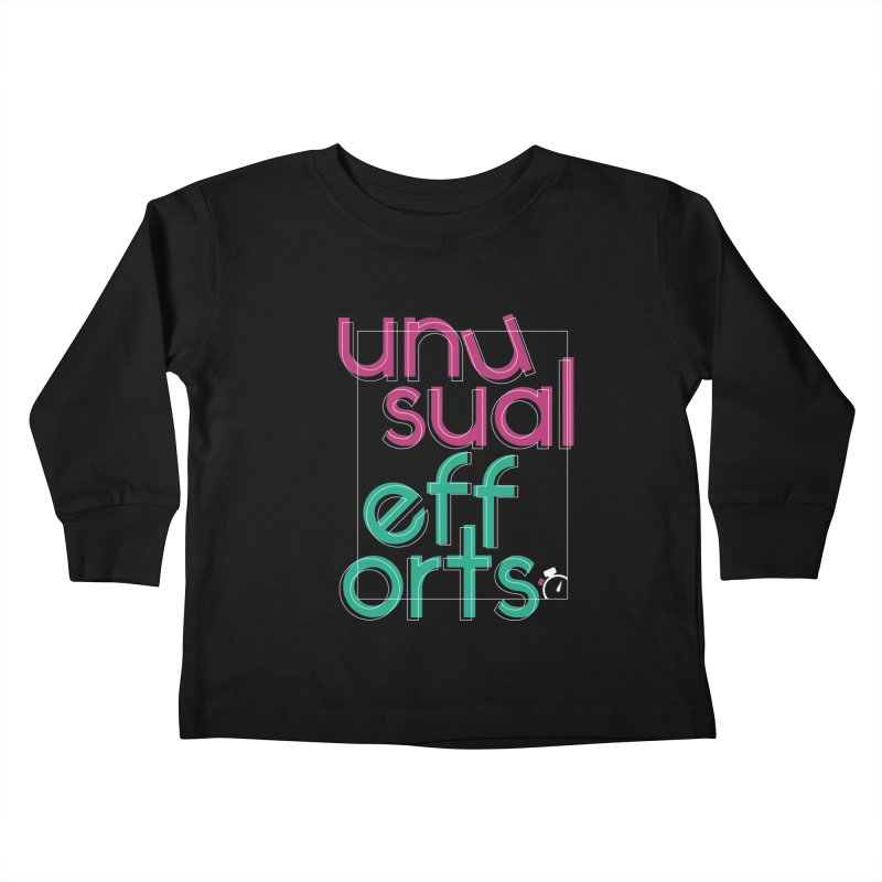 Unusually logo'd Kids Toddler Longsleeve T-Shirt by Unusual Efforts Merchandise and Prints