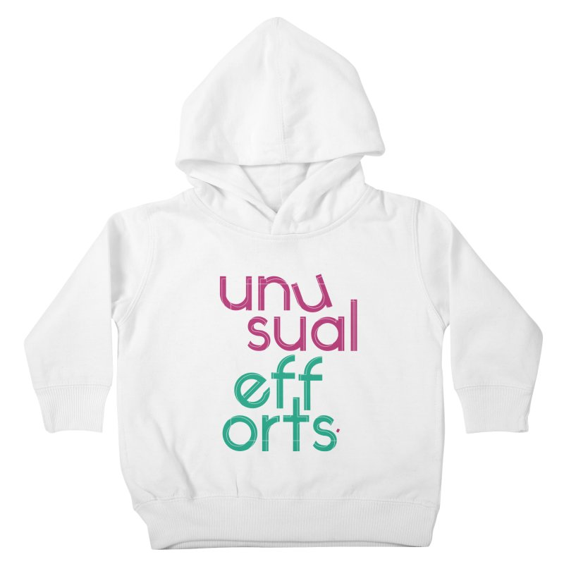 Unusually logo'd Kids Toddler Pullover Hoody by Unusual Efforts Merchandise and Prints
