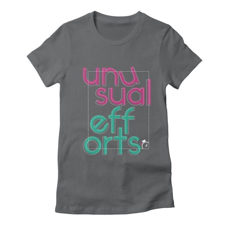 Unusually logo'd Women's Fitted T-Shirt by Unusual Efforts Merchandise and Prints