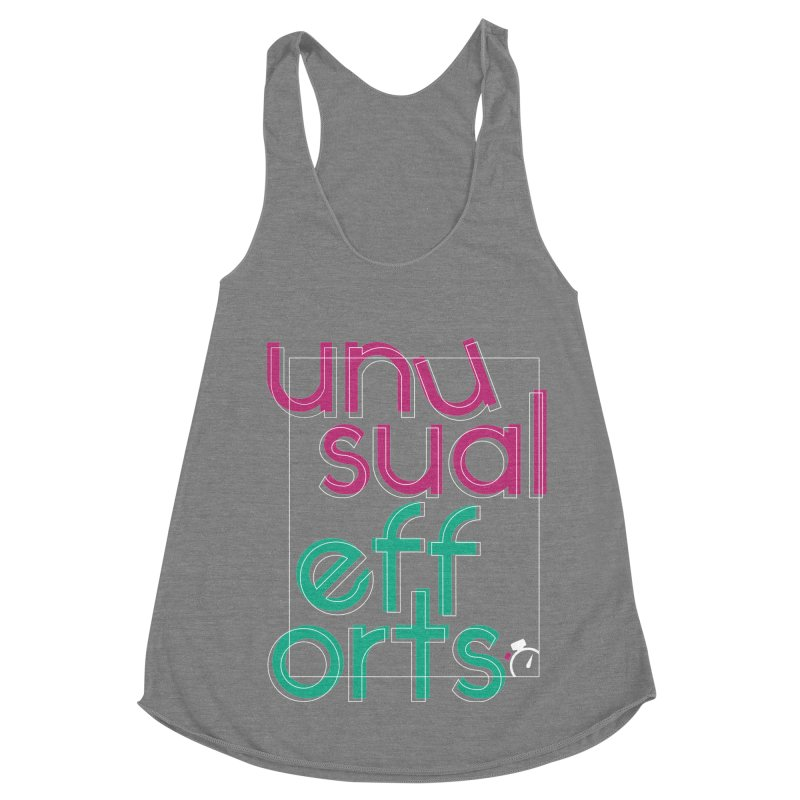 Unusually logo'd Women's Racerback Triblend Tank by Unusual Efforts Merchandise and Prints