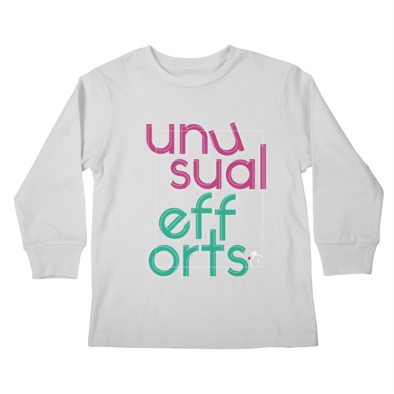 Unusually logo'd Kids Longsleeve T-Shirt by Unusual Efforts Merchandise and Prints