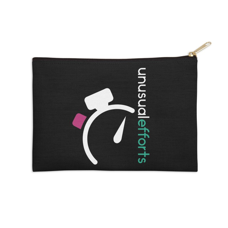 Time's up Accessories Zip Pouch by Unusual Efforts Merchandise and Prints