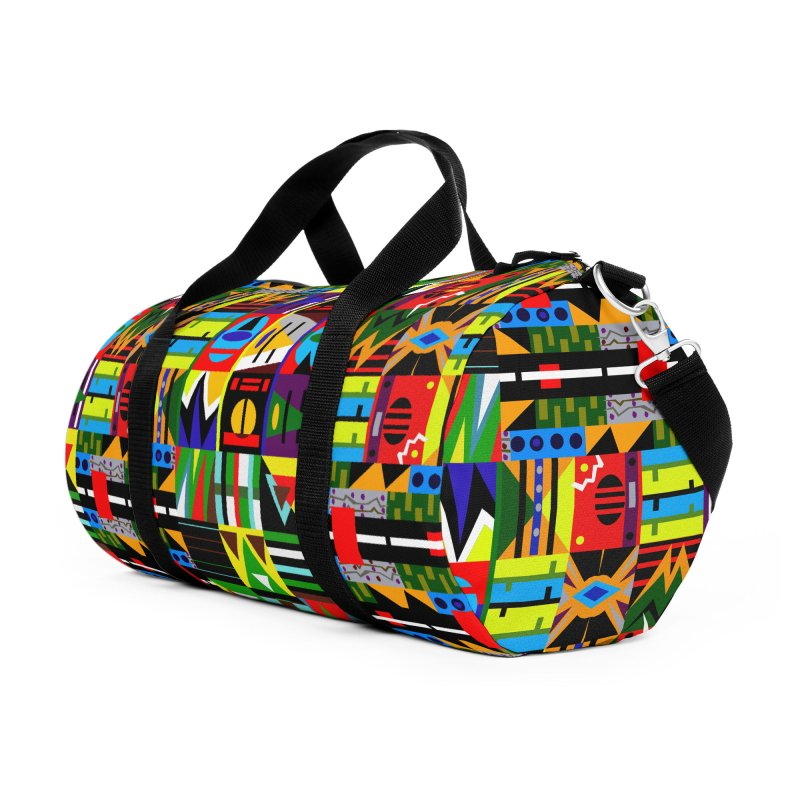 Afro Futuro Accessories Duffel Bag Bag by USUWE by Pugs Atomz