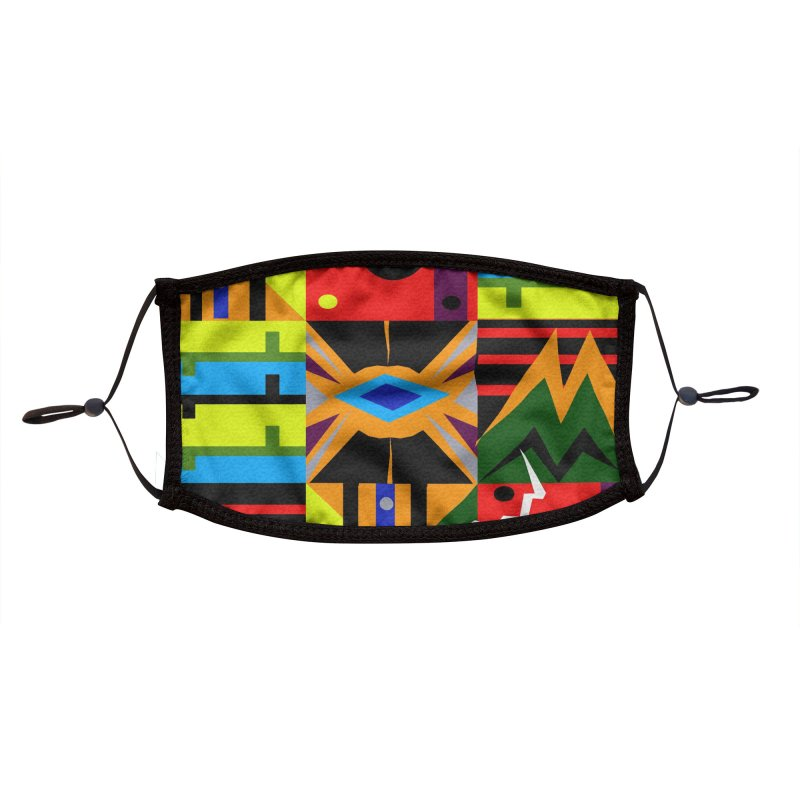 Afro Futuro Accessories Face Mask by USUWE by Pugs Atomz