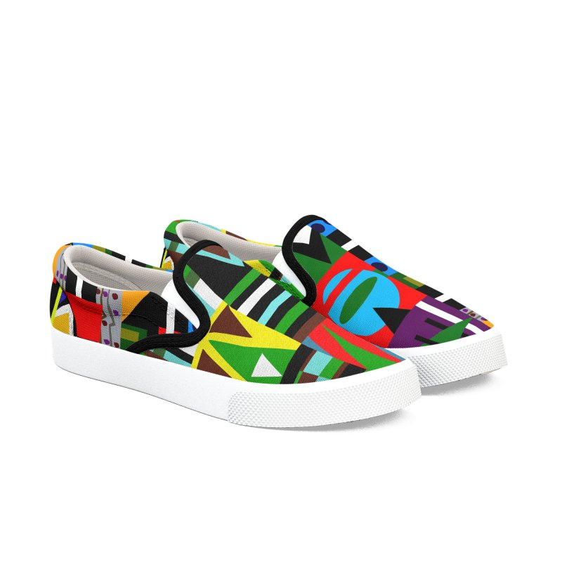 Afro Futuro Men's Slip-On Shoes by USUWE by Pugs Atomz
