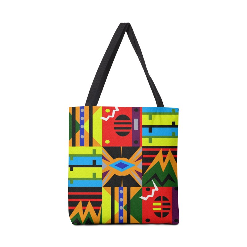 Afro Futuro Accessories Tote Bag Bag by USUWE by Pugs Atomz