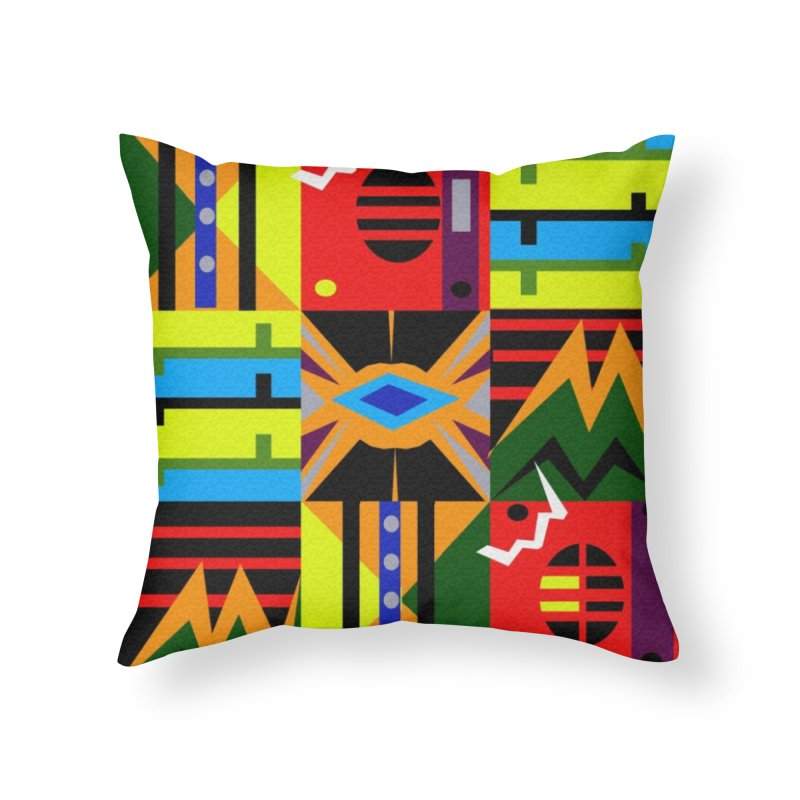 Afro Futuro Home Throw Pillow by USUWE by Pugs Atomz