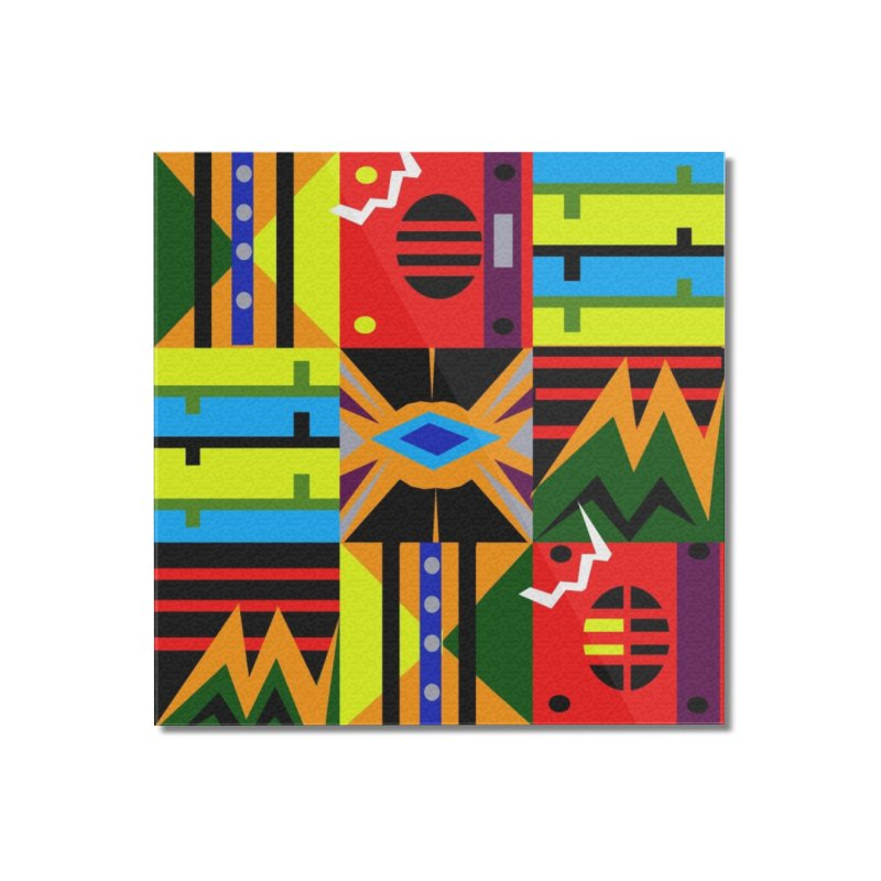 Afro Futuro Home Mounted Acrylic Print by USUWE by Pugs Atomz