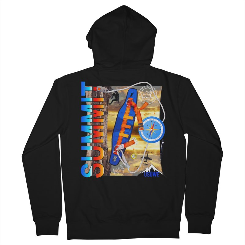 Summit in Men's French Terry Zip-Up Hoody Black by USUWE by Pugs Atomz