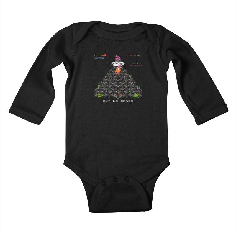Cut Le Grass Kids Baby Longsleeve Bodysuit by USUWE by Pugs Atomz