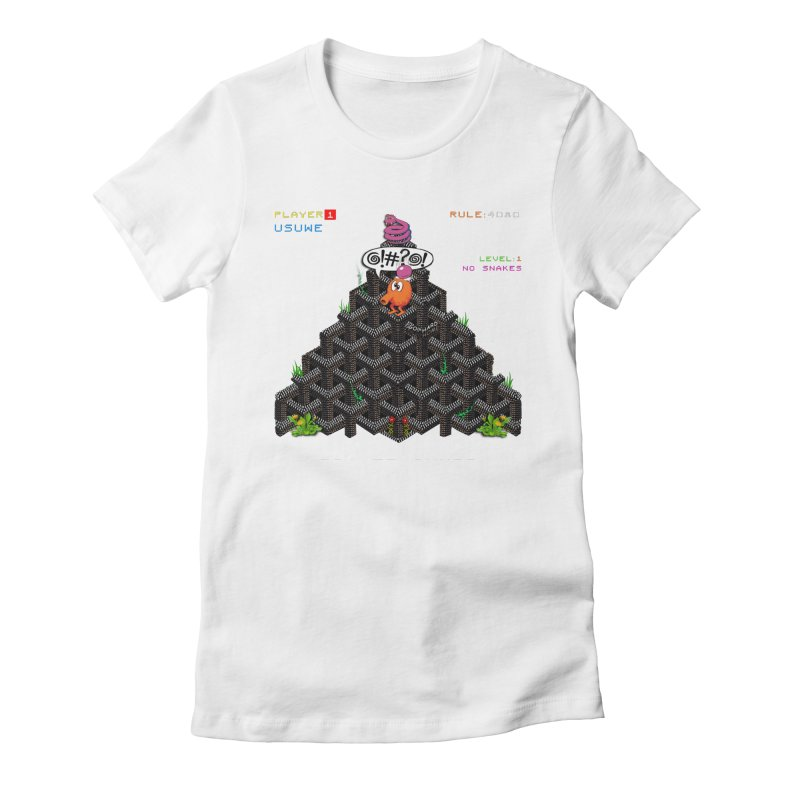 Cut Le Grass Women's Fitted T-Shirt by USUWE by Pugs Atomz