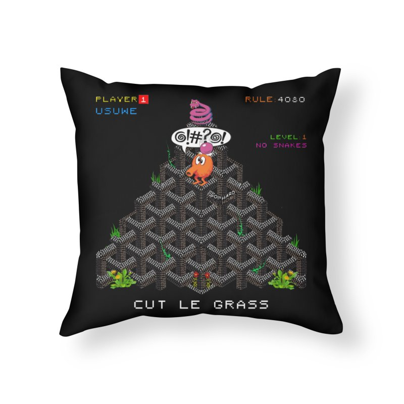 Cut Le Grass Home Throw Pillow by USUWE by Pugs Atomz