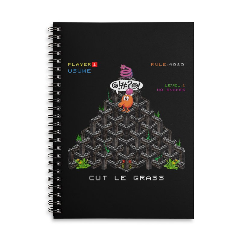 Cut Le Grass Accessories Lined Spiral Notebook by USUWE by Pugs Atomz