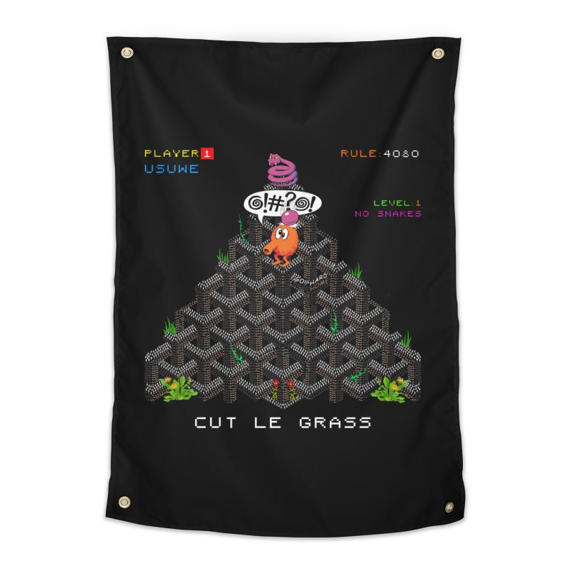 Cut Le Grass Home Tapestry by USUWE by Pugs Atomz