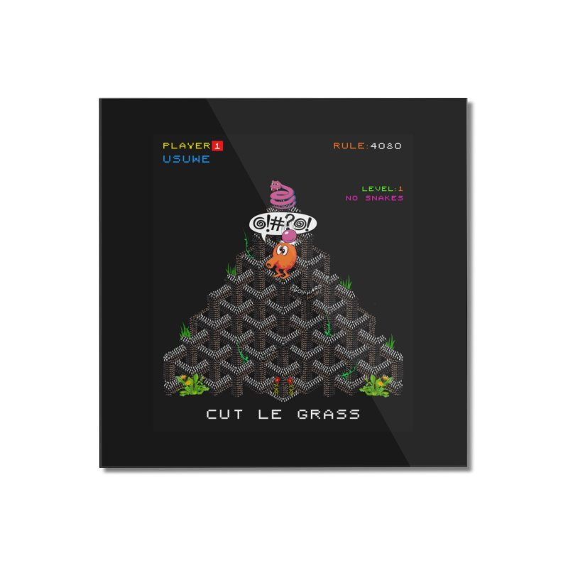 Cut Le Grass Home Mounted Acrylic Print by USUWE by Pugs Atomz