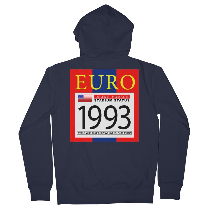 EURO P Women's French Terry Zip-Up Hoody by USUWE by Pugs Atomz