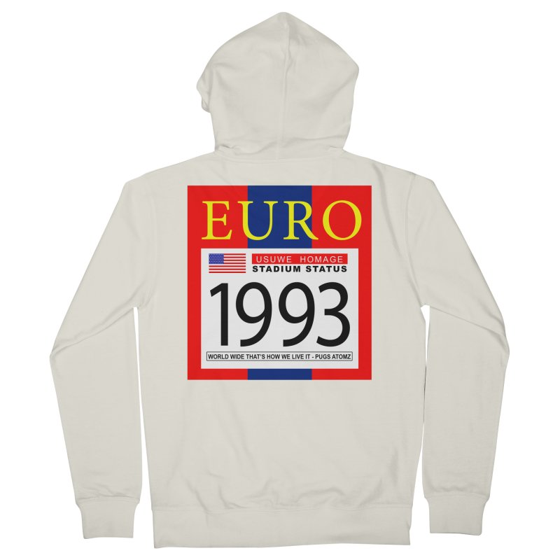 EURO P Men's French Terry Zip-Up Hoody by USUWE by Pugs Atomz