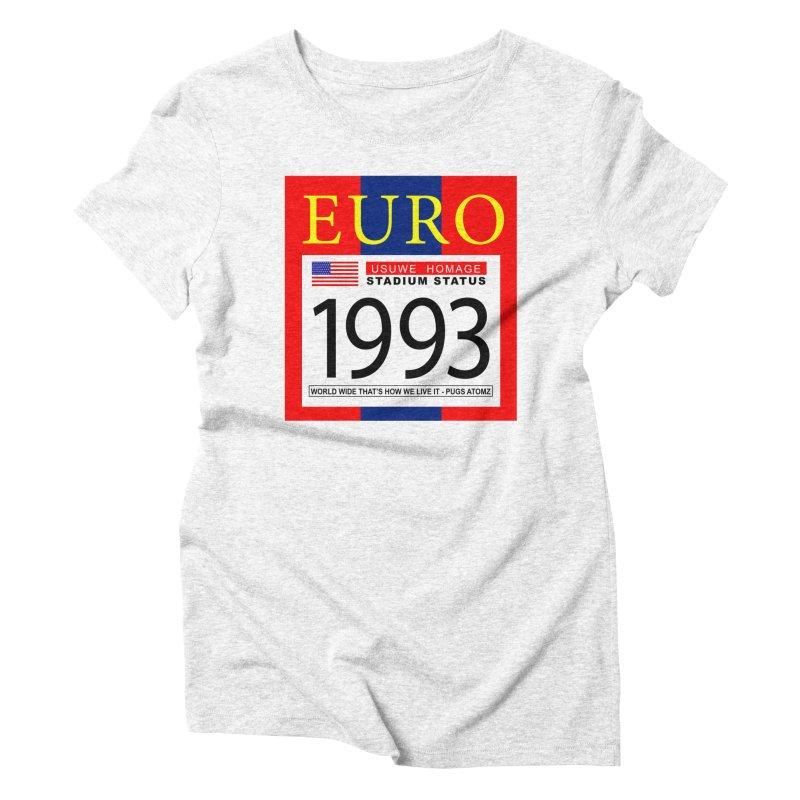 EURO P Women's Triblend T-shirt by USUWE by Pugs Atomz