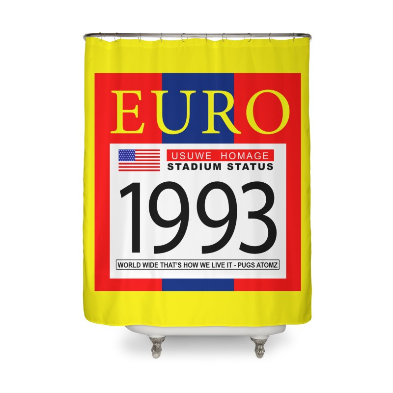 EURO P Home Shower Curtain by USUWE by Pugs Atomz