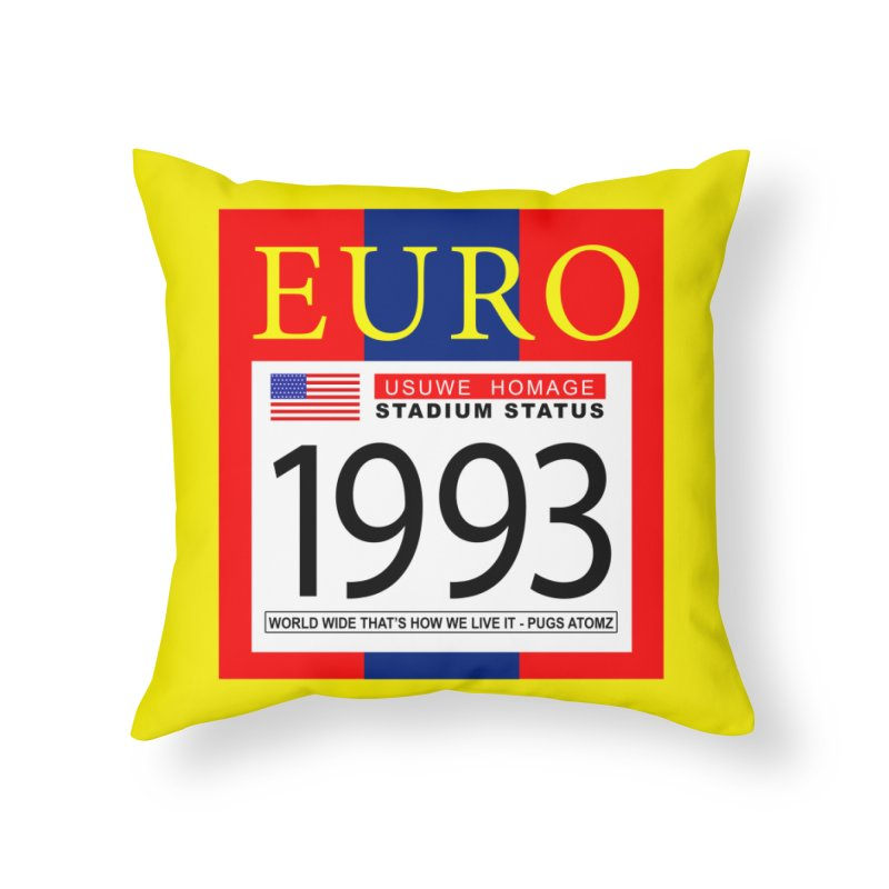 EURO P Home Throw Pillow by USUWE by Pugs Atomz