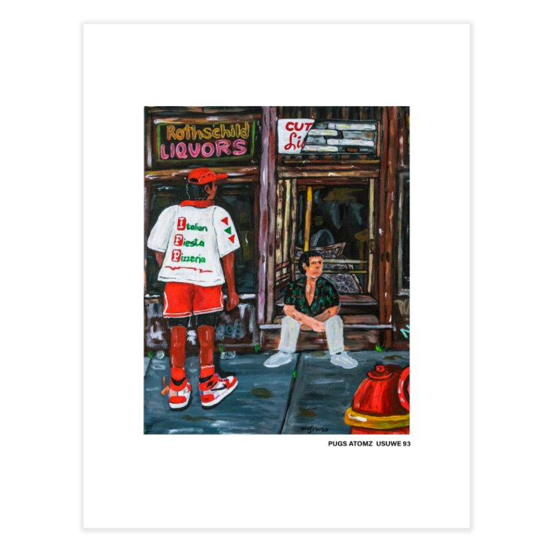 Mookie on the southside Home Fine Art Print by USUWE by Pugs Atomz
