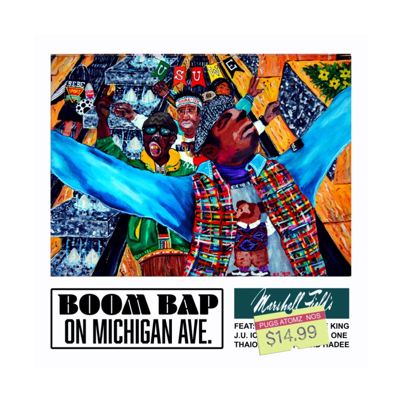 Boom Bap on Michigan AVe. Home Framed Fine Art Print by USUWE by Pugs Atomz